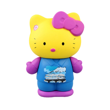 Cute Hello Kitty PVC Action Figures Toys Children Classic Dolls Kids Gift 8cm Sticker toys LF546(China)