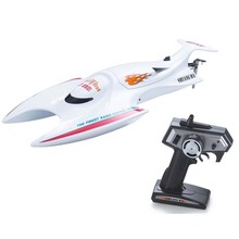 2016 newest 7016 2.4G 45cm large High Speed RC Racing Boat 25KM/Hour rc fishing bait boat with anti-tilt function