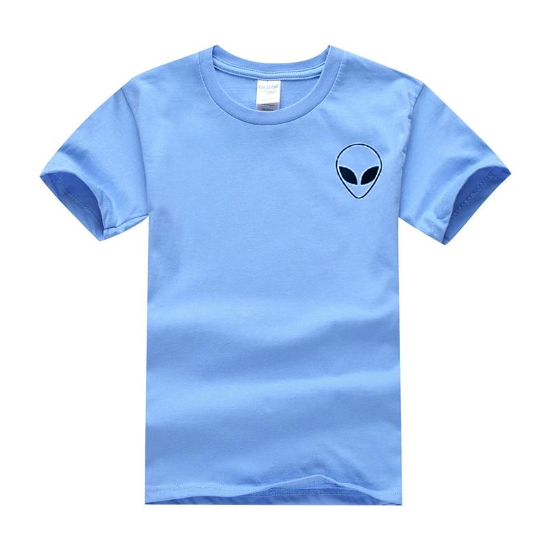 19 couleur S-XL Plaine T Shirt Femmes Coton Élastique De Base Chemises Casual Tops À Manches Courtes Harajuku Alien T-shirt Femme Vêtements 33