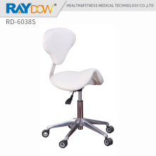 RD-6038S hydraulic saddle stool portable sliding barber salon stool office pedicure leather massage chair(China)