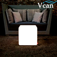 Best Quality LED Light Colorful Cube Side Table stools VC-A300 for party