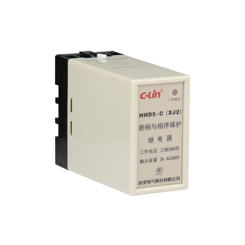HHD5-C Break Phase Order Protect Relay XJ2 AC380V Elevator Elevator. Electric Machinery Protect Organ<br>