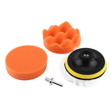 "5 in 1 Set 4"" Polishing Buffing Pad Kit Tool For Auto Car Polisher Buffer With M10 Drill Adapter"