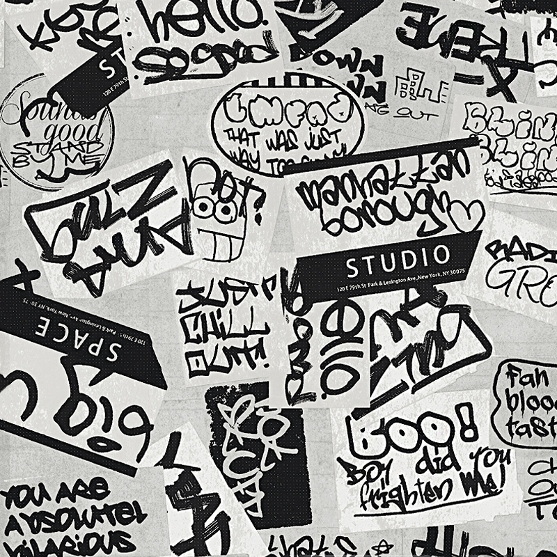 0.53x10m Nordic English alphabet pattern graffiti wallpaper living room bedroom clothing store shop bedroom   wallpaper<br>