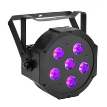 TSSS 6 in 1 UV Par lighting Amber+RGBW Dance Floor Stage Party Glow LED Wash Blacklight for Wedding Halloween Artwork 55W 6 LEDs(China)