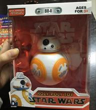 Disney Star Wars Spherical robot luminous voice BB8 12cm Tangjiao Ornaments hand to do model doll toy Kids