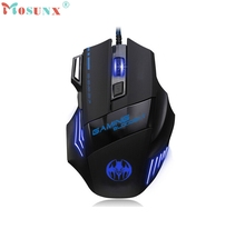 2017 Wired Gaming Mouse 3200 DPI 7D LED Optical USB Mice For Pro Gamer Wholesale Price Hot New Gift_KXL05 computer accessories(China)