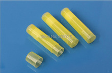 Free Shipping - 200pc/Lot 5G LIP BALM Tubes Transparent Yellow PP Lipstick tube, DIY Lip tube (not including the lip cream )HZ07(China)