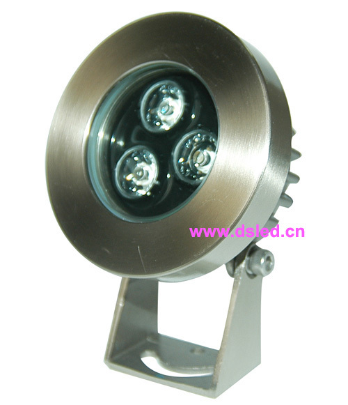 IP68,good quality high power 3W LED pool light, LED fountain light,3X1W,12V DC,DS-10-60-3W,stainless steel,2-Year warranty<br>
