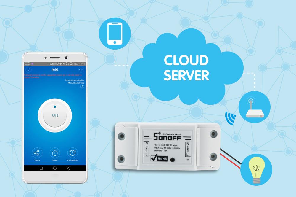 Sonoff dc220v Pilot Bezprzewodowy Przełącznik automatyki Inteligentnego Domu/Inteligentny WiFi Centrum dla APP Inteligentny Dom Steruje 10A/2200 W 5