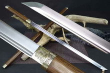 HandMade Japanese Sword Samurai Ninja Tanto Katana Sharp 1095 Carbon Steel Blade Hardwood Sheath