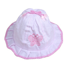 Children Bucket Hat Infant Girls Butterfly Style 2015 Spring Summer Baby Girl Fisherman Hat Sun Basin Cap 5 Colors