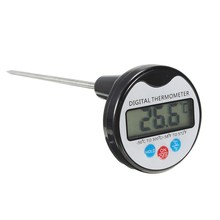 Digital Thermometer Portable Food Probe LCD For Kitchen Catering Cooking With Pen Shape Cover Memory Hold