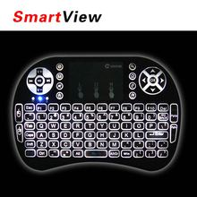 20pcs VONTAR i8+ English Russian language Version 2.4G wireless mini keyboard Touch pad mouse Backlit For Android TV Box PC(China)