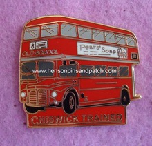 Custom Imitation hard enamel train bus pin badge for OLD SCHOOL,PEARS SOAP