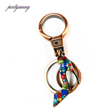 PF High-Heeled Keychain Crystal Car Key Chains Charm Accessories for Women's Bag Phone Keychain Ring Holder Llaveros Mujer YS181