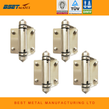 4 Pieces/Lot Mirror polish 316 Stainless steel Self Closing Hinges of glass to glass for glass swimming pool fencing(China)