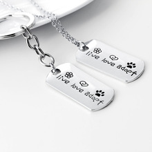 2017 Love Necklace Dog Tag Rescue Live Love Adopt Charm Pendant Necklace for Women Girl Boy Gift Wholesale
