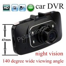 HD Night Vision 1080P Car DVR Dash Cam Vehicle Camera Vedio HDMI Rcorder GS8000 G-sensor 140 degree wide viewing angle