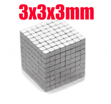 3*3*3 n45 magnet Wholesales 200 pcs Strong Block Cube Magnets 3mm x 3mm x 3mm Rare Earth Neodymium magnets