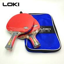 110a826e5 LOKI 6 Estrelas Raquete De Tênis De Mesa Profissional Ébano Carbono Ténis  de Mesa Raquete Ping Pong Bat Ataque Rápido Arc Raquet.