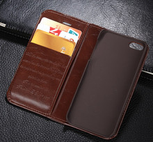 Luxury Genuine Leather Magnetic Auto Flip Card Holder Case For Apple iPhone 5s 5 Original Brand Cell Phone Cases(China)