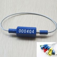 20pcs Plastic tightening easy lock security wire seals cargo container seals Metal Cable Ties wire blockade Anti-oil