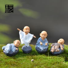Buddhist monk Mini Figurine Dolls Anime Action Figure Fairy Garden /Terrarium Miniatures Home Decorations Micro Landscape Decor