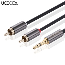 UOOEDA 5PCS Converter Cable Jack 3.5mm RCA Audio Line Male to Male 1 -3.5 meters Cable Headphone Speaker Guide