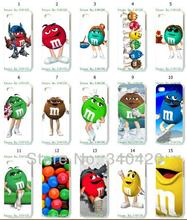 vcustom Mobile Phone Cases Wholesale 15pcs/lot Chocolate m&m Protective White Hard Case For Iphone 4 4S Cases
