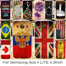 Russia Flag Phone Case For Samsung Galaxy Ace 4 LTE G357FZ Silicone Plastic Shell Cover Ace Style LTE G357 SM-G357FZ Bag Cases