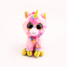 Ty Beanie Boos Big Eyes Plush Toy Doll 10 - 15cm Pink Unicorn TY Baby For Kids Birthday Gifts(China)