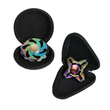 Fidget Spinner Protect Case Leather Flip Type Fingertip Gyro Round Triangle Box Hand Spinner Earphone Dustproof EVA Storage Box