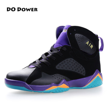 Do Dower Men's Basketball Shoes women Sports Sneakers lifestyle High Top Breathable Leather Shoes Men Outdoor Jordan Shoes(China)