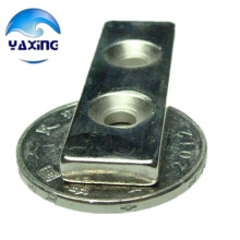 10pcs cube magnet with hole 40x12x4 - 4mm hole  Block Neodymium Rare Earth Permanent Magnet