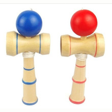 Japanese Traditional Skillful Juggling Wood Sports Game Balls Kids Wooden Kendama Coordinate Ball Skill Educational Toys Gift