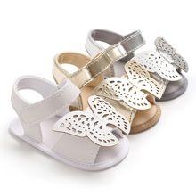 d1f22d1014b5b Papillon d été Bébé Fille Sandales Nouveau-Né Bébé Chaussures Mode PU  Papillon Bébé