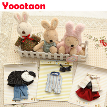 Rabbit clothes Doll's clothing Floral lace plush toys dress,Play house kids toys clothes