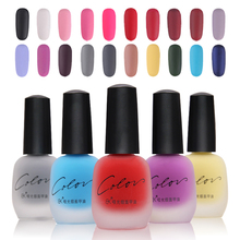 20 Colors Satin Frosted Bottle Long Lasting Nail Art Waterproof Nail Enamel Manicure Design Quick Dry Matte Nail Polish