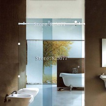 Free Shipping sliding glass shower doors frameless Whole set Hardware 304 stainless steel HD10
