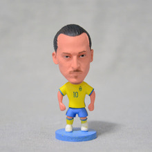 "Soccer 10#IBRAHIMOVIC Sweden team 2.5"" Toy Doll Figure 2017 footballer figuer fans gift(China)"