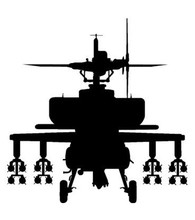 Military Style Huge Helicopter Silhouette Wall Sticker Cool Home Livingroom Art Decor Special Vinyl Wall Decals Poster WM216(China)