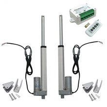 2pcs 8 Inch 8'' Stroke Linear Actuator 330 Pound Max Lift DC 12V Motor + Wireless Remote Controller Kit + Mounting Brackets(China)