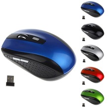 2.4G Wireless Mouse Portable Optical 6 Buttons 1200 DPI Mice For Computer PC Laptop Gamer Black Blue Green Red Color Mouse(China)