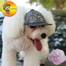 New Arrivals paillette pet hats pets cap dog caps cat grooming dogs suppliers pets clothing for Teddy Poodle Chihuahua(China)