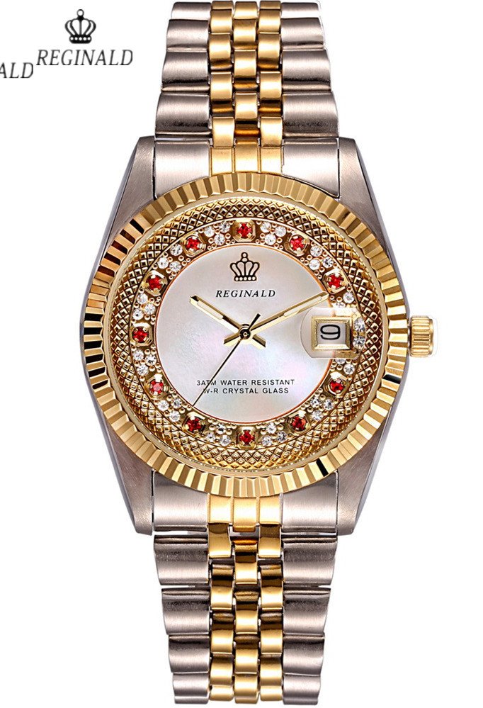 2016 Luxury Brand Wrist Watch Golden Quartz Watch for Men Dress Party 50m Water Resistant<br>