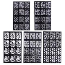 Buy Fashion DIY Ultrathin Various Styles Hollow Nail Art Template Stencil Stickers Airbrush Decal Stamp Nail Art Sticker Decal for $1.04 in AliExpress store