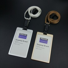 """High-grade, metal, card group, staff work, badges, passers-by, gifts, 12 colors of the rope clip Card & ID Holders """