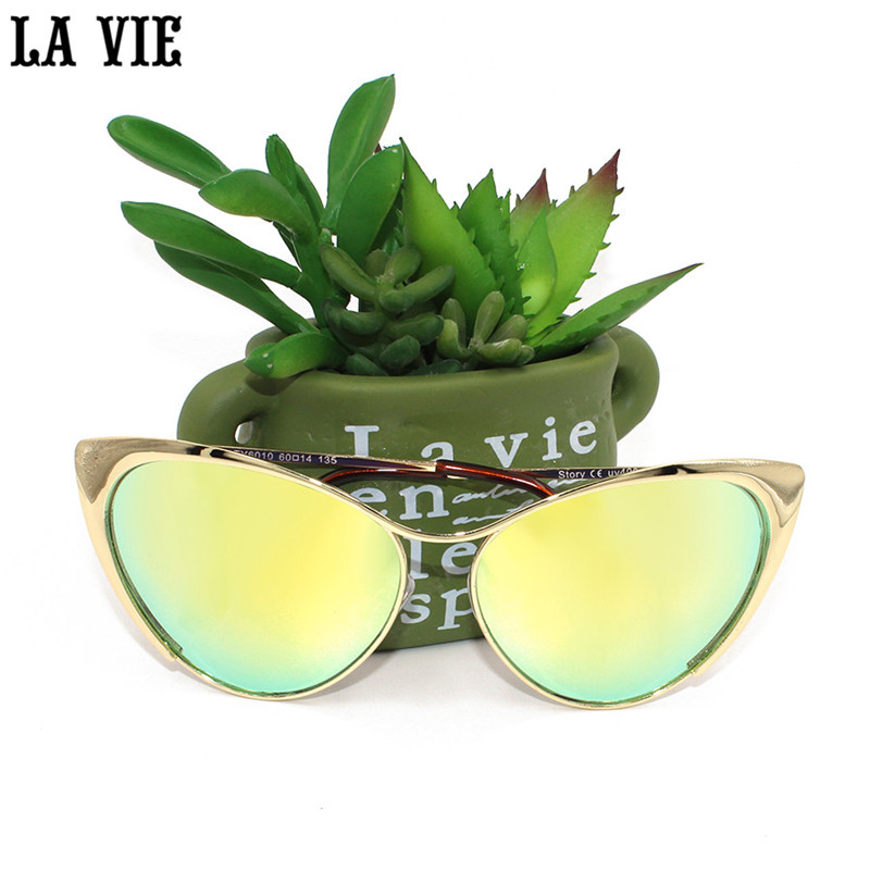 LA VIE Cat Eye Sunglasses Women 2017 Hot Cat Eye S...