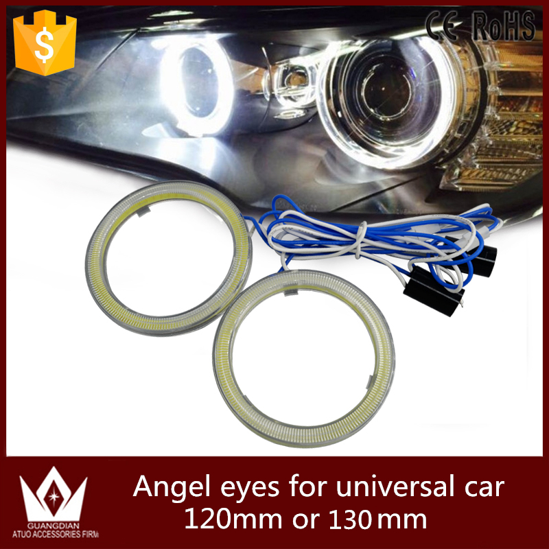 Guang Dian car led light Angel Eyes Ring Halo COB For Car Motorcycle LED full circle Waterproof super Bright 120mm or 130mm<br><br>Aliexpress